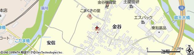 山形県上山市金谷15周辺の地図