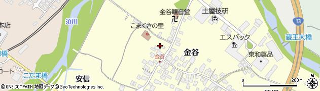 山形県上山市金谷16周辺の地図