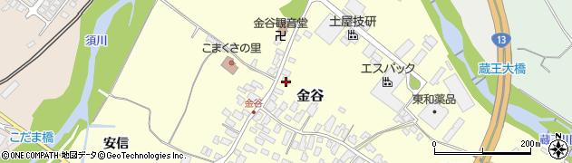 山形県上山市金谷18周辺の地図
