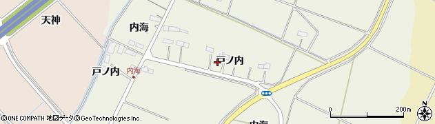 宮城県名取市牛野(戸ノ内)周辺の地図