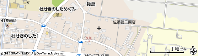 宮城県名取市増田(後島)周辺の地図