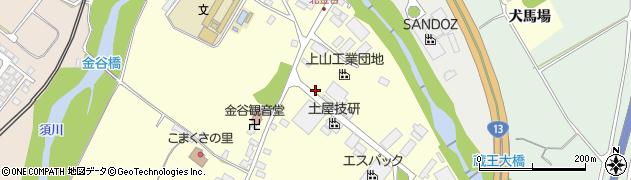 山形県上山市金谷金谷神周辺の地図