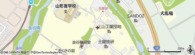 山形県上山市金谷金谷神1406周辺の地図