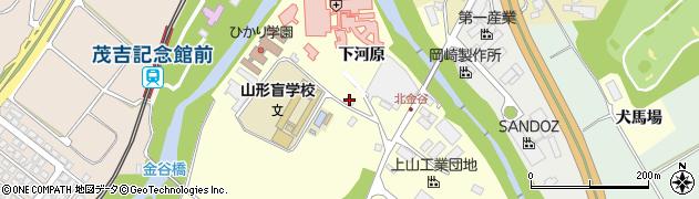 山形県上山市金谷金ケ瀬134周辺の地図