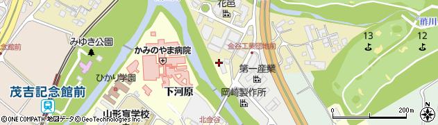 山形県上山市金谷トウチョウメン周辺の地図