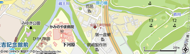 山形県上山市金瓶湯尻52周辺の地図
