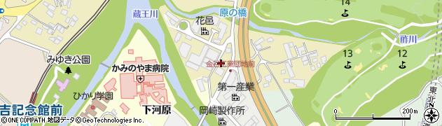 山形県上山市金瓶湯尻56周辺の地図