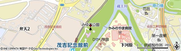 山形県上山市北町弁天周辺の地図