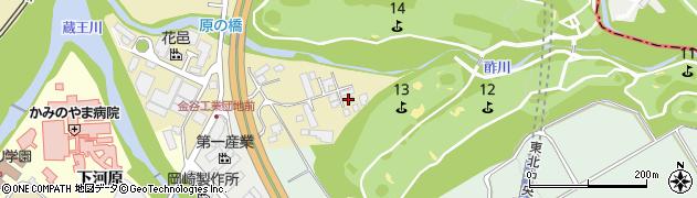 山形県上山市金瓶湯尻90周辺の地図