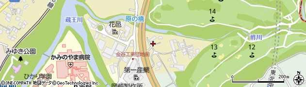 山形県上山市金瓶湯尻63周辺の地図