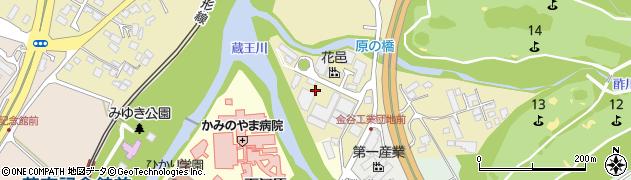 山形県上山市金瓶湯尻周辺の地図