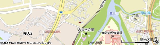 山形県上山市金瓶湯坂山11周辺の地図