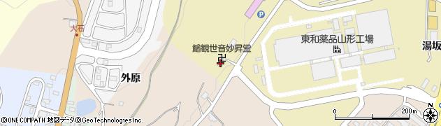山形県上山市金瓶山ノ上97周辺の地図