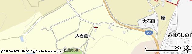 山形県上山市裏町大石蔭周辺の地図