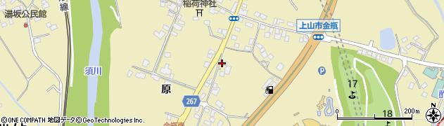 山形県上山市金瓶原74周辺の地図
