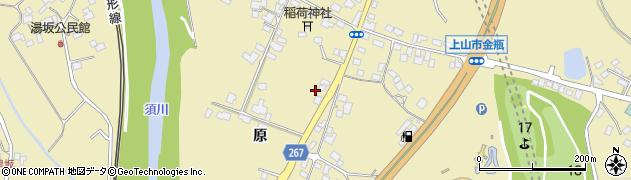 山形県上山市金瓶(川原)周辺の地図