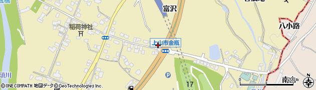 山形県上山市金瓶冨沢62周辺の地図