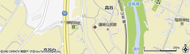 山形県上山市金瓶高谷73周辺の地図
