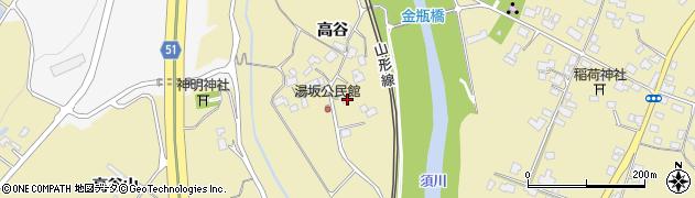 山形県上山市金瓶高谷80周辺の地図
