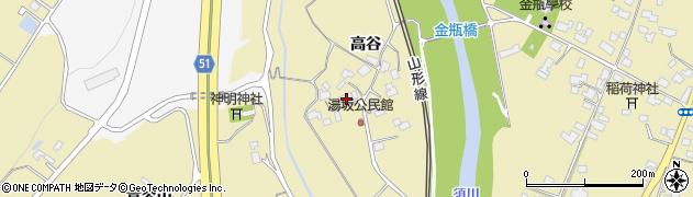 山形県上山市金瓶高谷76周辺の地図
