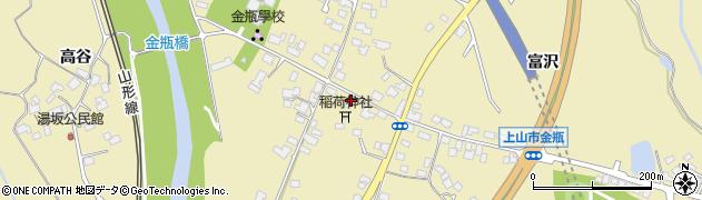 山形県上山市金瓶北3周辺の地図
