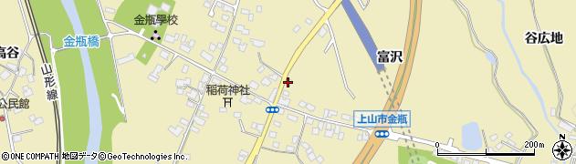 山形県上山市金瓶冨沢9周辺の地図