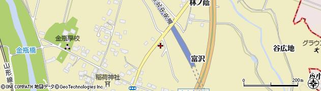 山形県上山市金瓶冨沢37周辺の地図