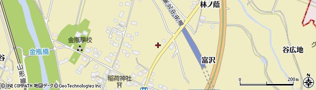 山形県上山市金瓶北17周辺の地図