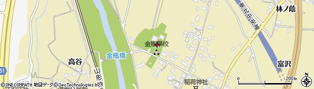 山形県上山市金瓶北165周辺の地図