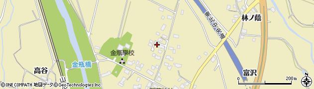 山形県上山市金瓶北155周辺の地図