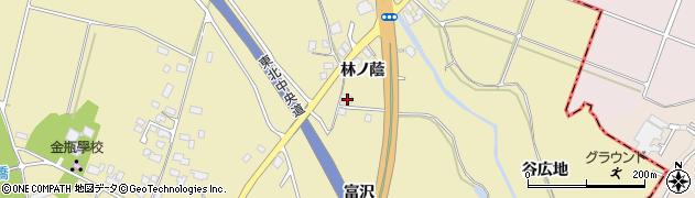 山形県上山市金瓶林ノ蔭22周辺の地図