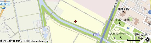 百川周辺の地図