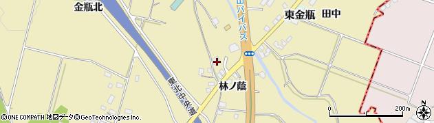 山形県上山市金瓶林ノ蔭18周辺の地図