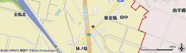 山形県上山市金瓶石田7周辺の地図