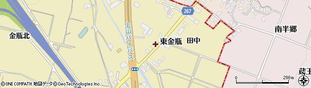 山形県上山市金瓶石田3周辺の地図