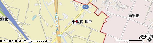山形県上山市東金瓶8周辺の地図