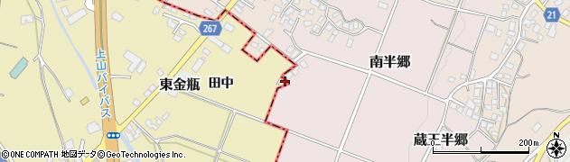 山形県上山市金瓶田中54周辺の地図