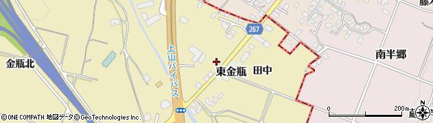 山形県上山市金瓶田中35周辺の地図