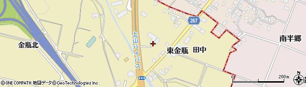山形県上山市金瓶石田5周辺の地図