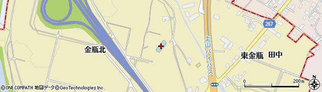 山形県上山市金瓶北102周辺の地図