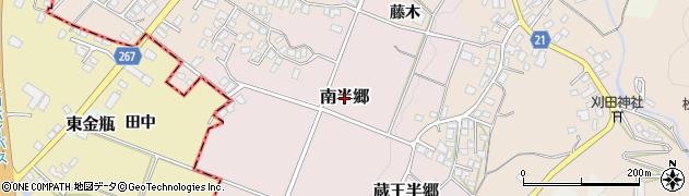 山形県山形市南半郷周辺の地図