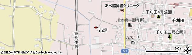 宮城県名取市上余田(市坪)周辺の地図
