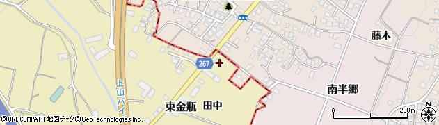 山形県上山市金瓶田中42周辺の地図
