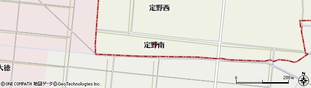 宮城県仙台市太白区袋原(定野南)周辺の地図