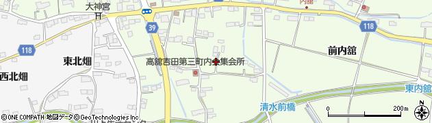 宮城県名取市高舘吉田(内舘)周辺の地図
