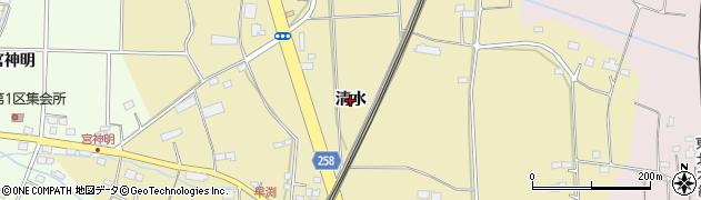 宮城県名取市田高(清水)周辺の地図