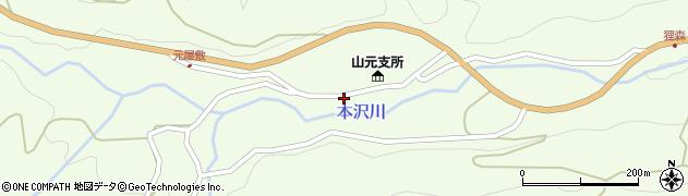 山形県上山市狸森久々取429周辺の地図
