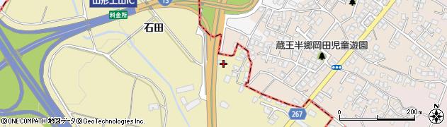 山形県上山市金瓶田中10周辺の地図