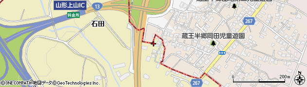 山形県上山市金瓶田中588周辺の地図