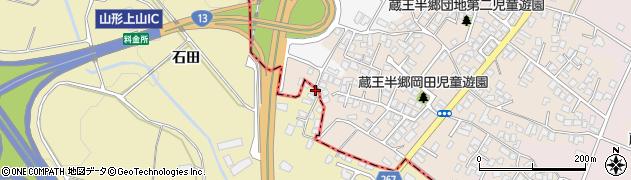 山形県上山市金瓶田中66周辺の地図